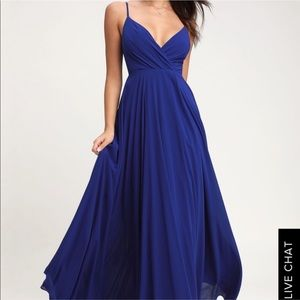 Lulu's All About Love Royal Blue Maxi Dress